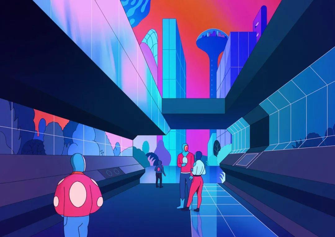 作品涉足电影,3d动画和插画.