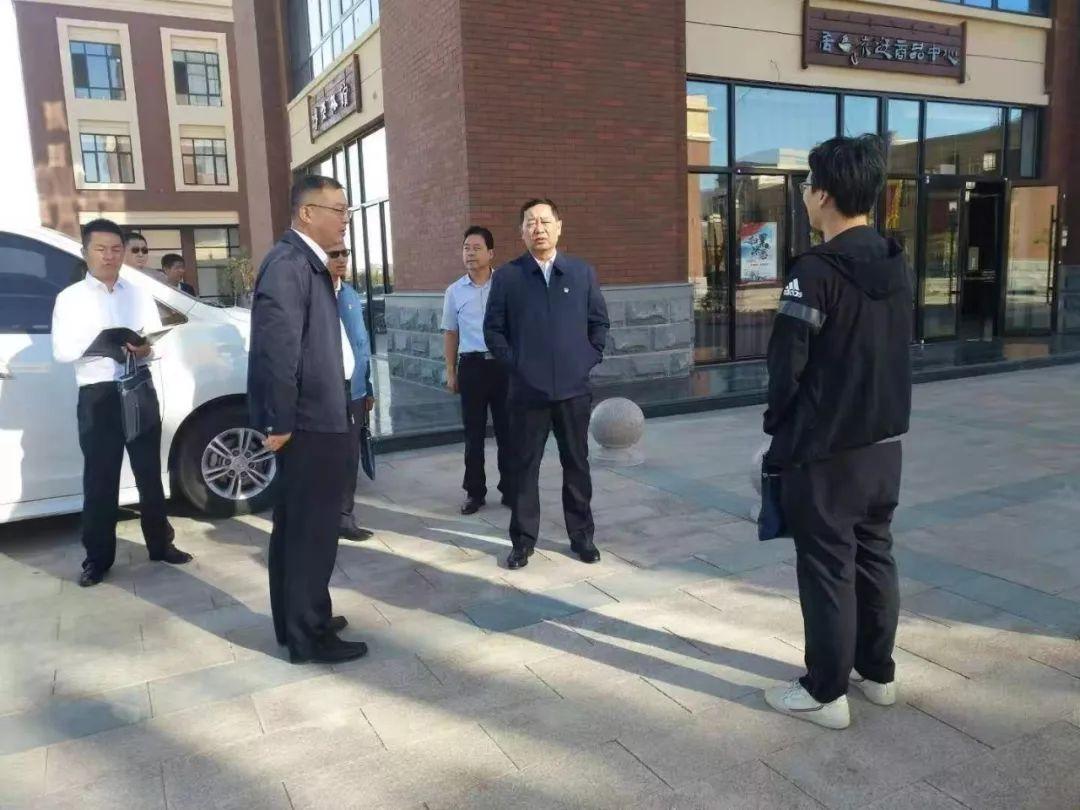 旗委副书记、旗长王雄到居延文化城现场办公,指导工作
