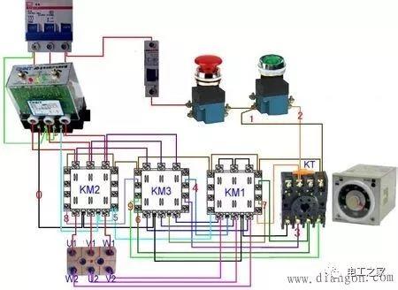 时间继电器如何接线、接线方法、接线图及工作原理