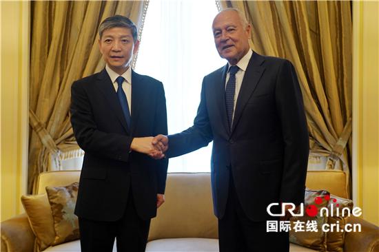 中国驻埃及大使向阿拉伯国家联盟秘书长盖特递交代表任命书