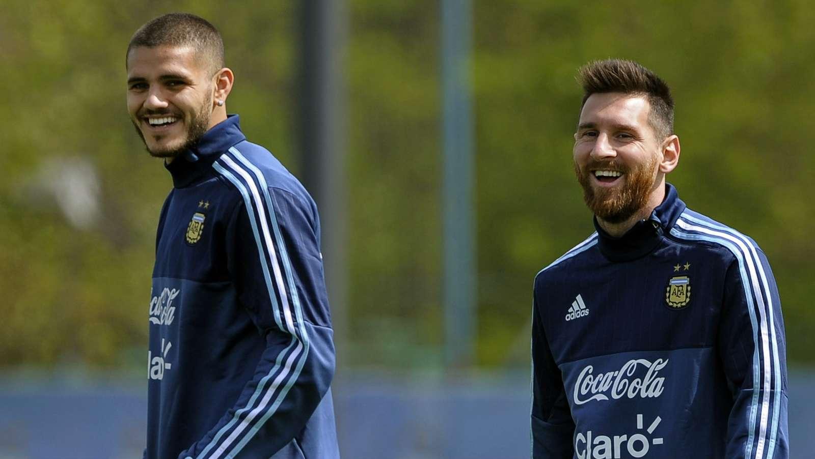 """伊卡尔迪否认与梅西不和,称梅西是""""世界上最好的球员""""……"""