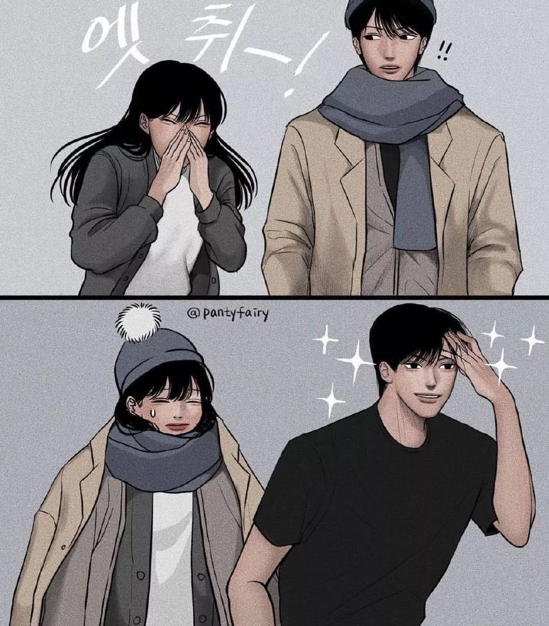 好羞哦!韩国超甜情侣漫画,火遍全网,网友:别开车了!