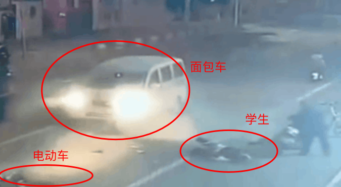 <b>惨烈!张家口一学生被面包车撞飞,监控拍下过程</b>