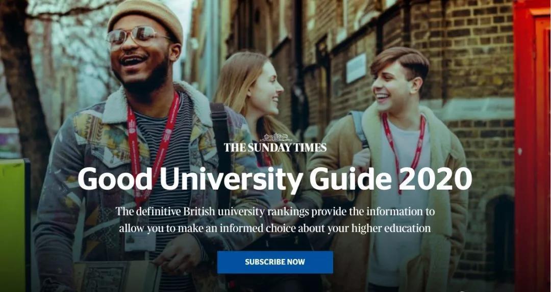2020泰晤士报GOODUNIVERSITYGUIDE英国大学排名发布!_榜单