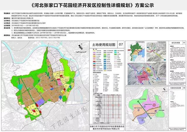 1356.42公顷!下花园要建经济开发区,规划方案出炉