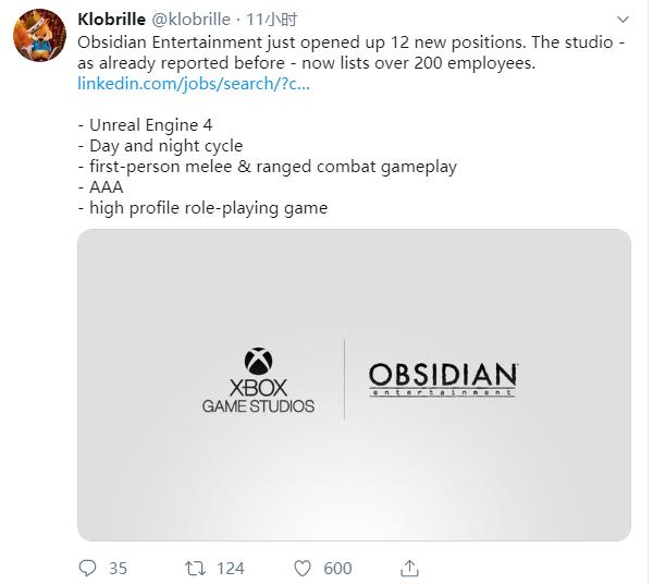 <b>黑曜石发布岗位招聘 新作或为多人在线RPG网游</b>