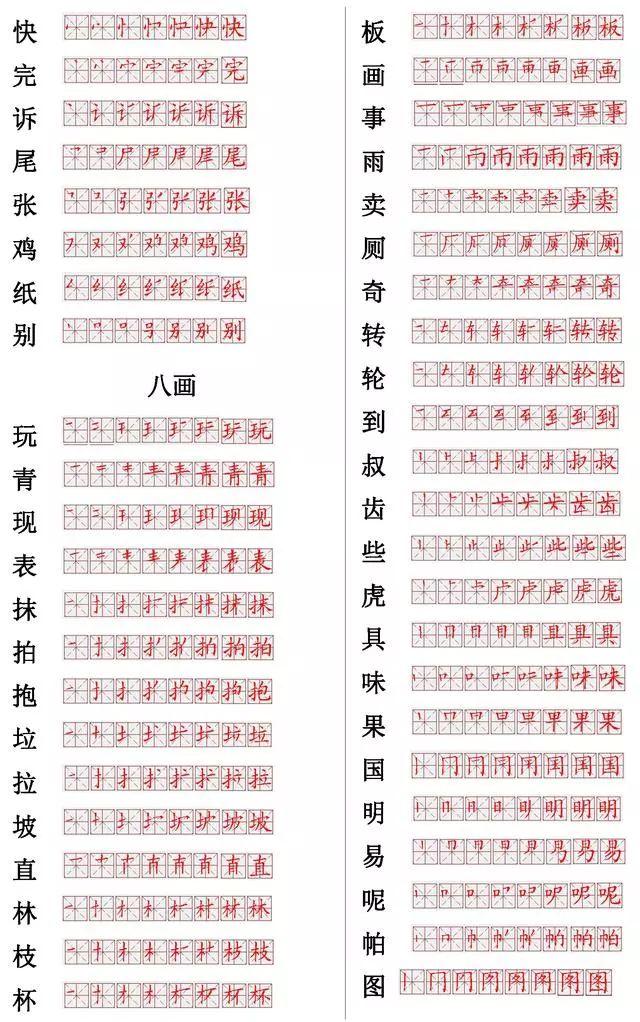 国家正式出台笔顺正确写法,附小学常见560个汉字笔画表,建议收藏
