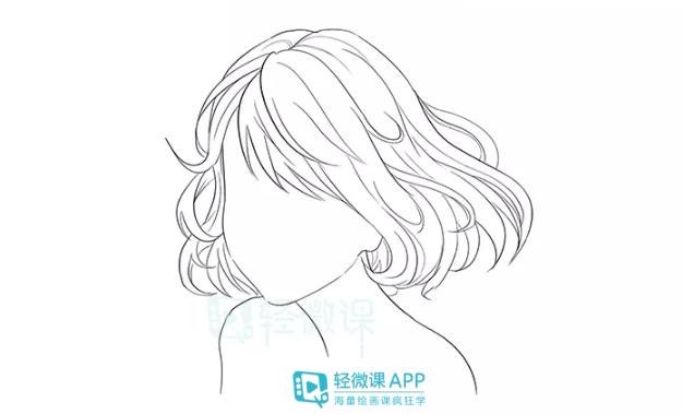美少女动漫人物头发怎么画?