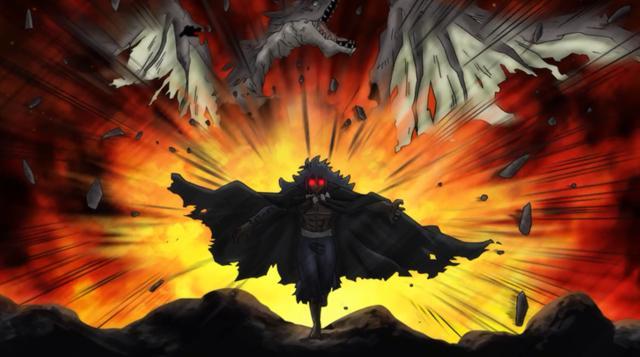 妖精的尾巴:团结就是力量,七龙之力集于一身,七彩炎龙战黑龙