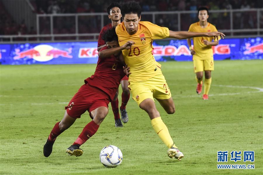 U16亚少赛小组赛:中国队战平印度尼西亚队