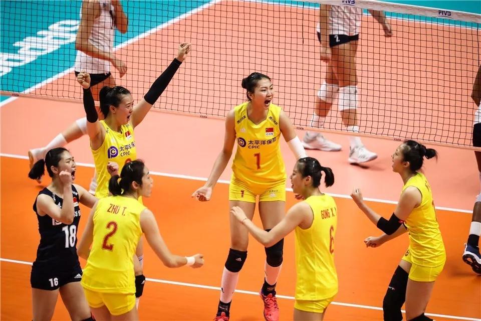 霸气!中国女排完胜美国 世界杯七连胜