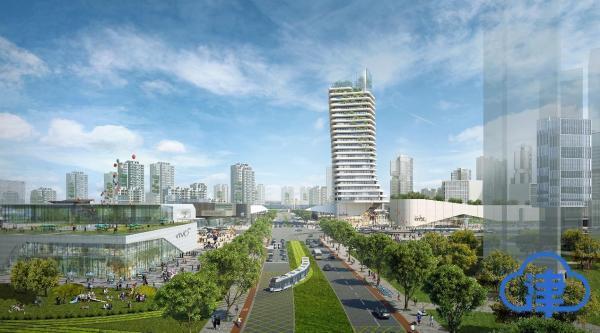"""天津生态城将建""""双子塔""""地标建筑 打造最核心1平方公里"""