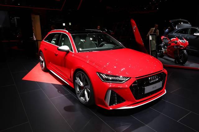 红色2020款 奥迪Audi RS6 Avant 最极限的家用车