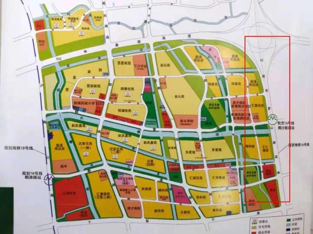 从社区规划图可以了解到,s3沪奉高速公路规划建设于鹤沙航城东侧.
