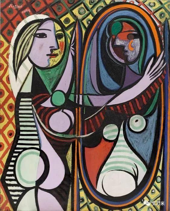 1932年,毕加索绘制了著名的《镜前的少女》.