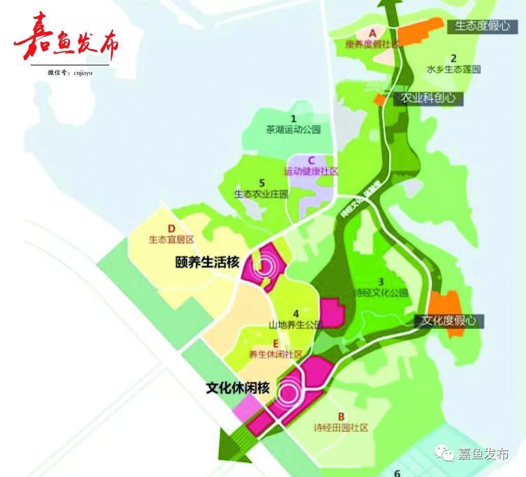 嘉鱼东城区规划图
