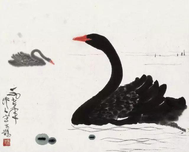 【高跟v高跟】吴作人书画的黑天鹅,别有一番笔下情趣射美女图片情趣图片
