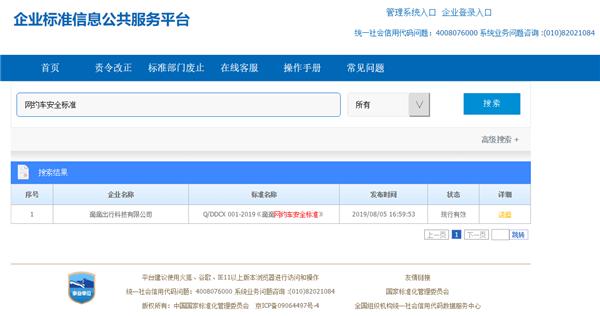快讯   国内首个网约车行业安全标准《滴滴网约车安全标准》正式发布