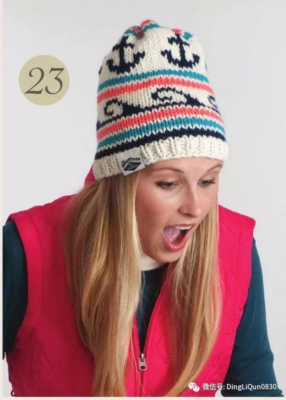 针织杂志 最新的51款帽子 围巾和手套等 简易图解