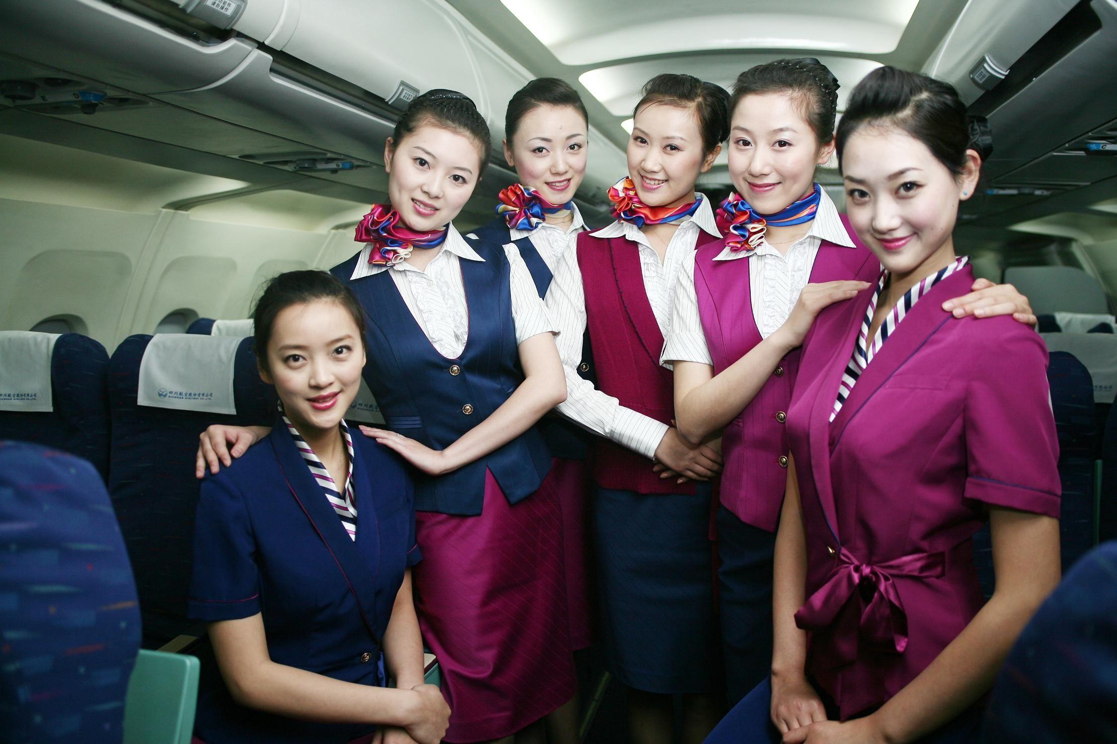川航空姐图片