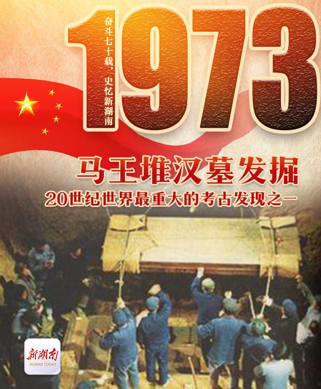 奋斗七十载史忆新湖南丨1973·马王堆汉墓发掘:20世纪世界最重大的考古发现之一