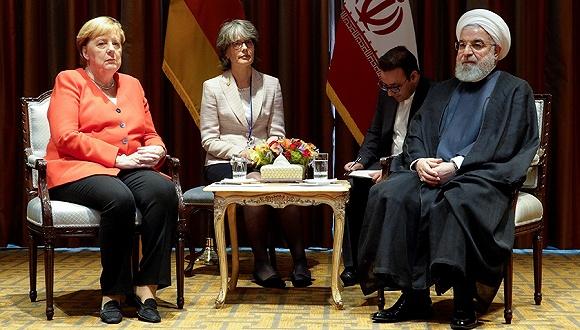 """特朗普联大演讲抨击伊朗""""嗜血"""",鲁哈尼:美国所到之处都有恐怖主义"""