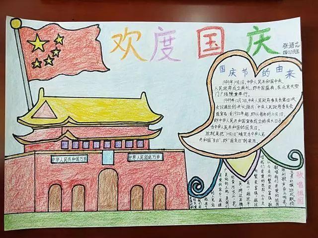 64张国庆节手抄报模板,太及时了!(附国庆插画素材)