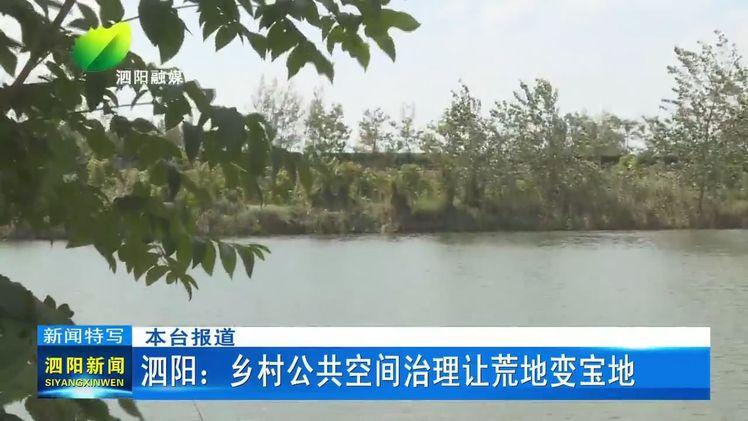 泗阳:乡村公共空间治理让荒地变宝地