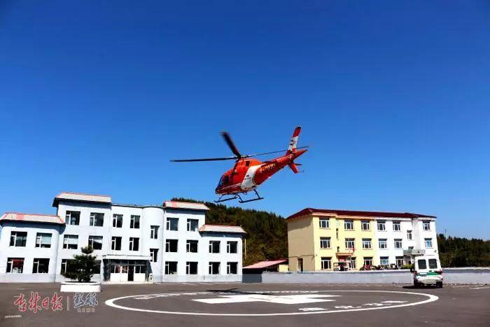 通化男子遇车祸腿部受伤无法移动!关键时刻,直升飞机来了……