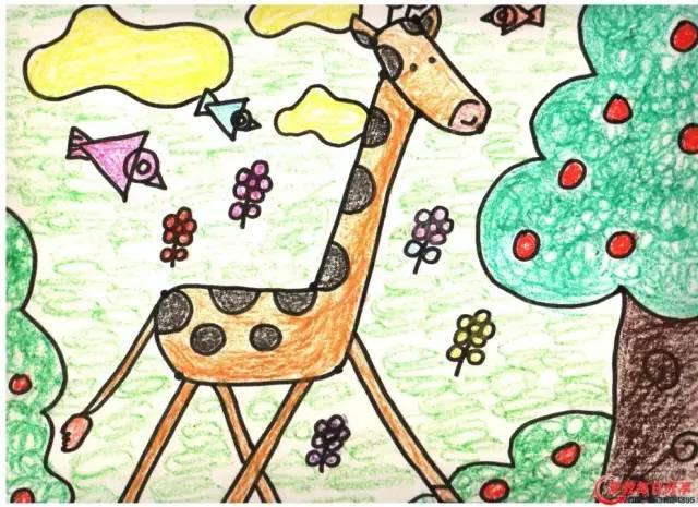 幼儿园蜡笔画