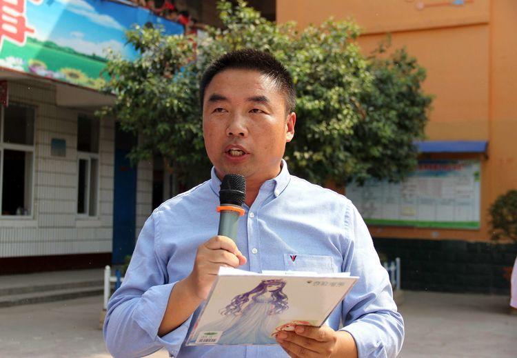 淮阳县至善社工服务中心与李柿园学校联合开展迎国庆活动