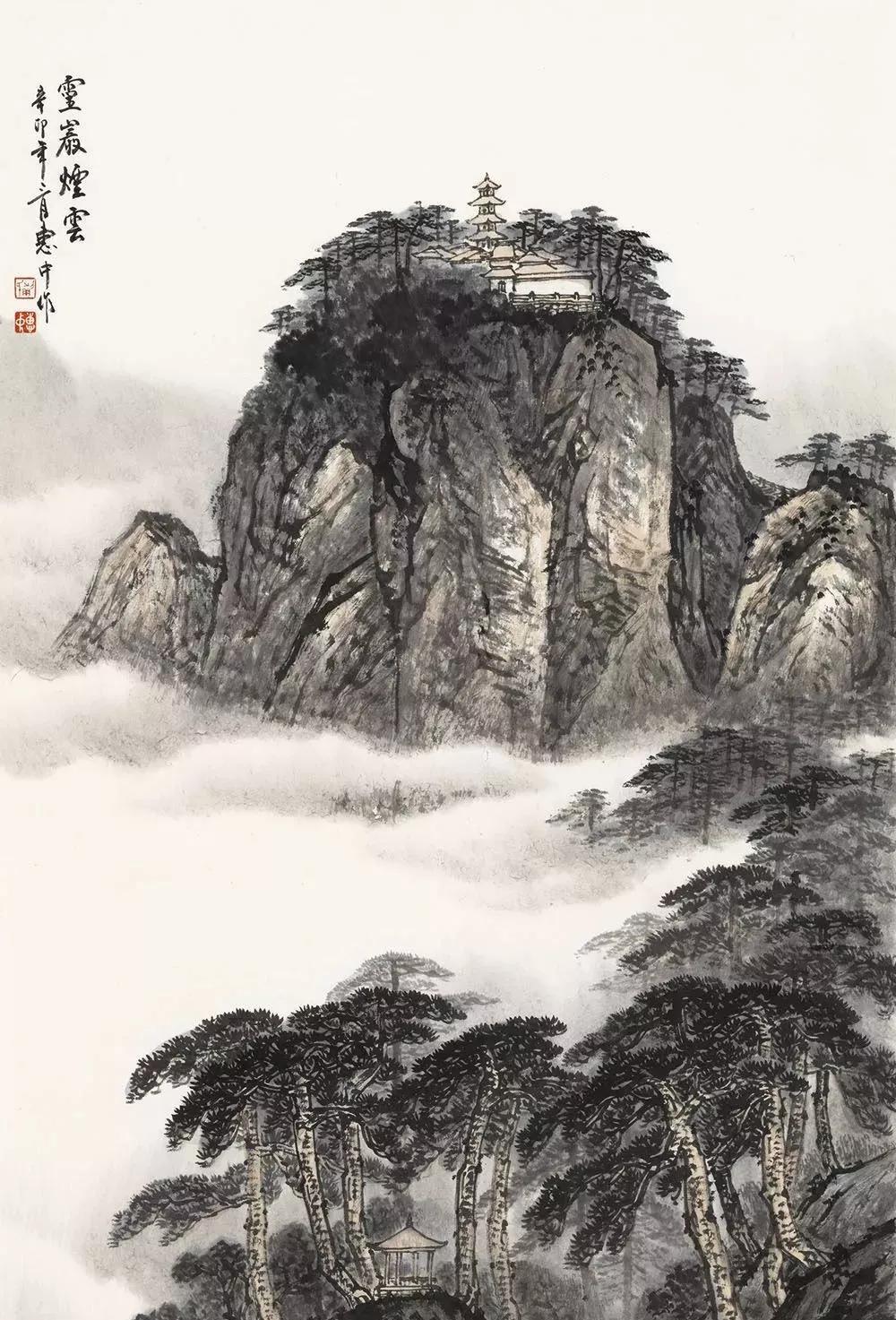 山水幽情笔墨新,蒯惠中的国画山水