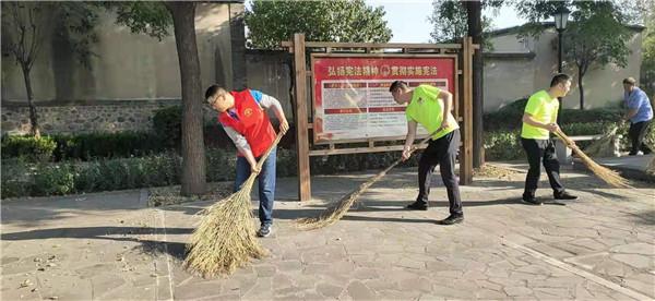 河北平山和爱志愿者走进华北人民政府诞生地王子村举办迎国庆活动