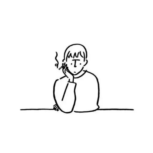 手绘头像男生黑白简约2018最新 简笔画头像男生呆萌搞怪