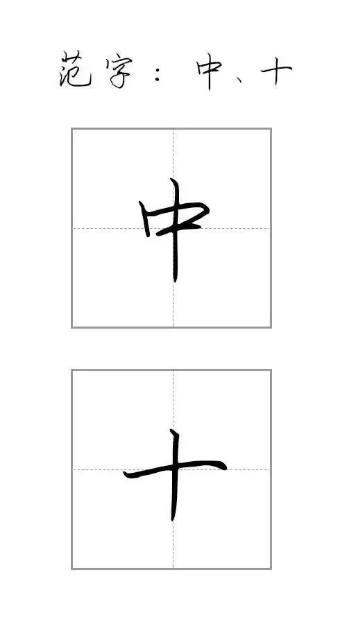 硬笔书法 硬笔行楷字基础笔画教程