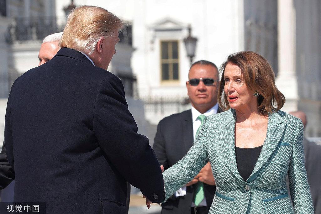 美众议院议长佩洛西向特朗普放狠话:你可落到我手里了