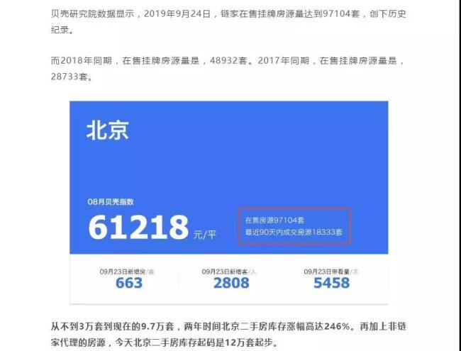 """突发!北京二手房抛盘""""暴涨""""246%的背后真相揭秘"""