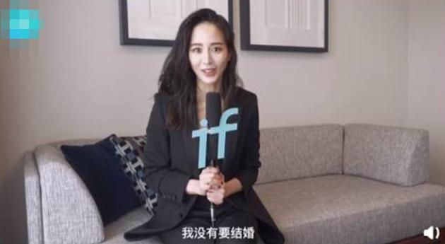 张钧甯本尊辟谣与张翰领证传闻:我没有要结婚