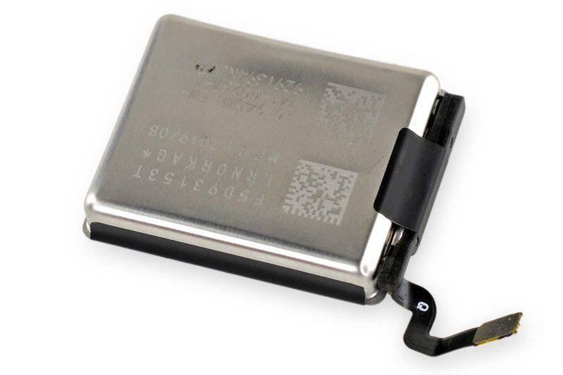 40毫米AppleWatchSeries5采用全新电池设计,容量增加10%