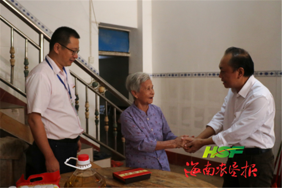 <b>梁春发率队到东昌农场公司慰问离休老干部</b>