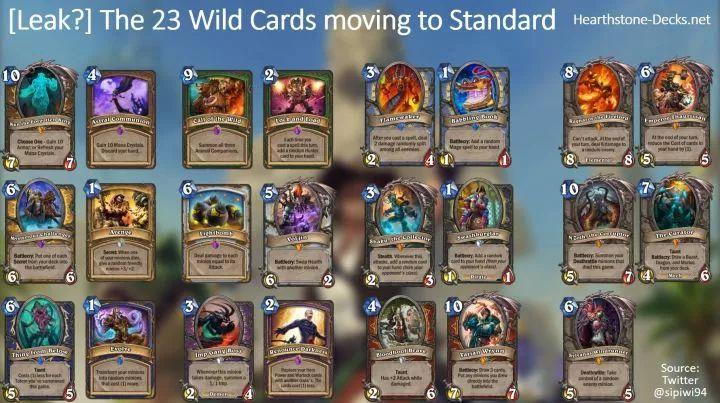 狂野回归卡牌提前泄露,这些牌能给标准带来多大的变化?