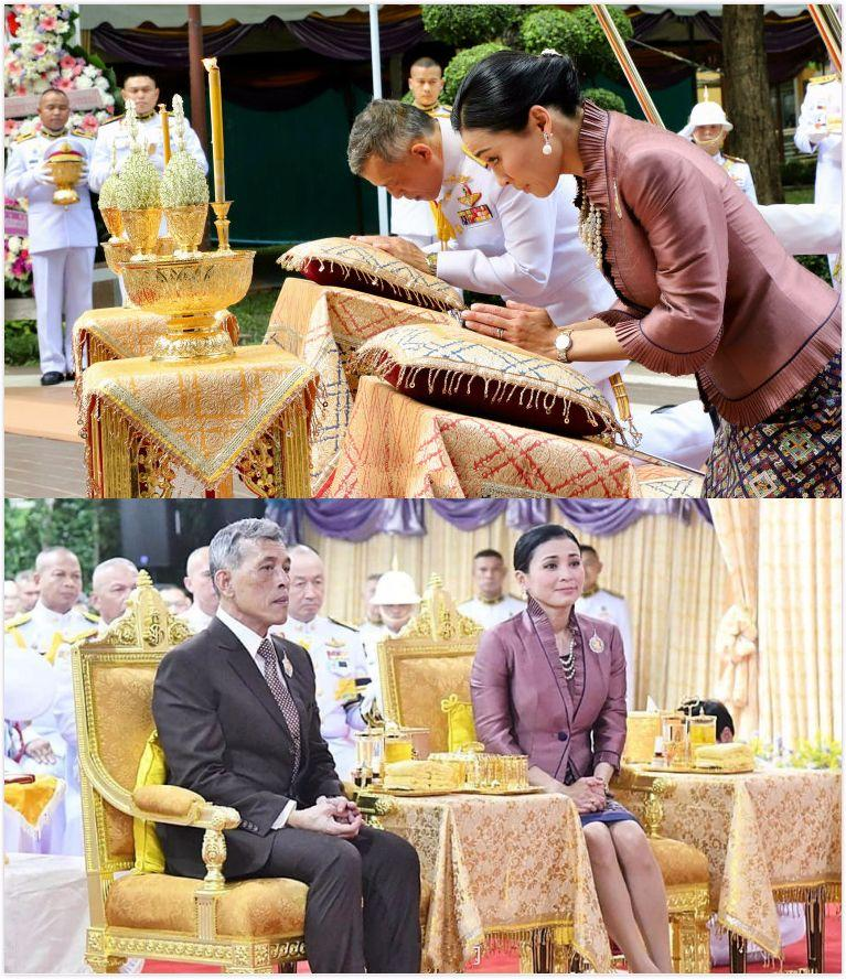 泰国王妃生图曝光,穿天蓝色外套搭V领衣,却被嘲皮肤黑长马脸