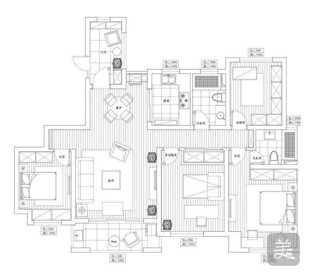 热点:143平现代风四居室,沉稳的色彩搭配,让家更温馨舒适!