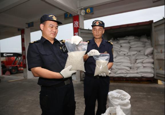 """12.875吨""""洋垃圾""""想冒名入境?江门海关果断退运出境"""