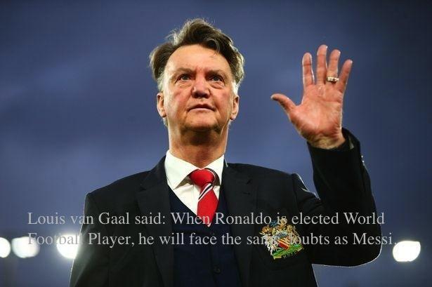 <b>范加尔认为若C罗当选世界足球先生,他也会受到与梅西相同的质疑</b>