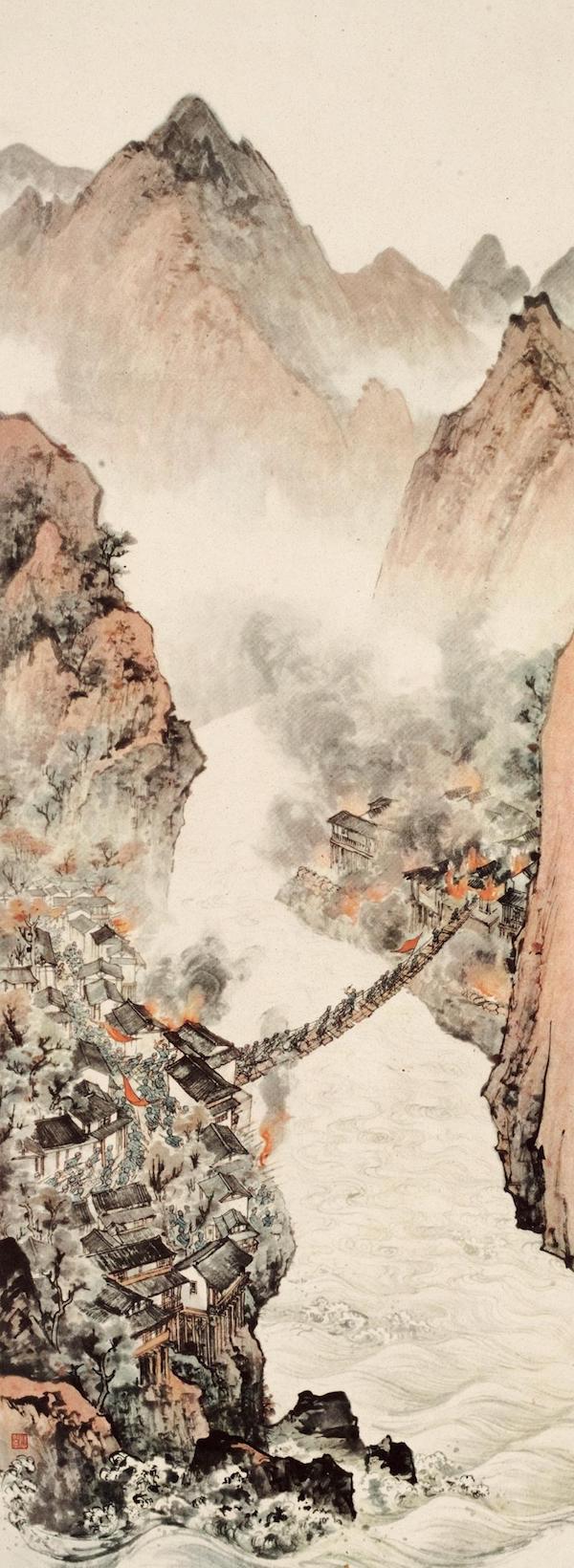 新中国美术70年|汪观清《庆祝上海解放》