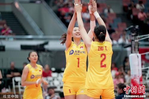 中国女排3:0大胜塞尔维亚 提前一轮卫冕世界杯