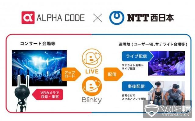 Alpha Code獲得NTT西日本4億日元投資,共同布局VR直播服務