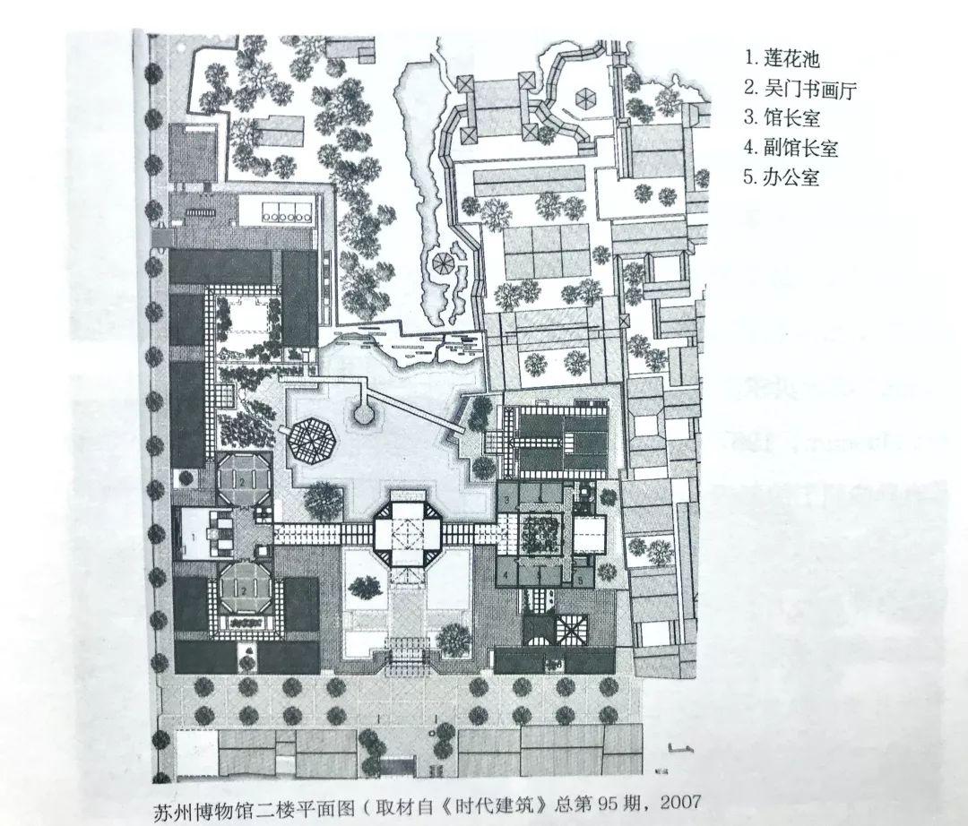 苏州博物馆二楼平面图▲   第十讲 伊斯兰艺术博物馆   伊斯兰艺术博物馆,是贝聿铭在中东地区的唯一作品,亦是他晚年退休之后所设计的规模最大的作品.