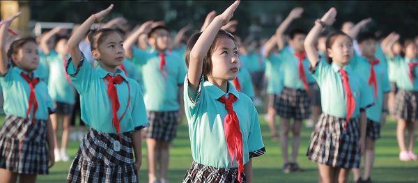 安徽 中小学生同唱国歌